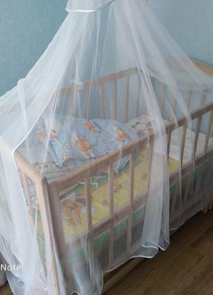 Кроватка маятник детская комплект