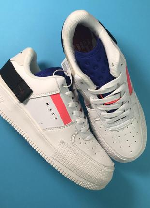 Кроссовки Nike Air Force 1 White Red Orbit