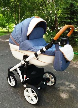 Детская универсальная коляска 2 в 1 ADAMEX Prince