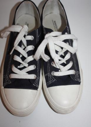 Кеды mango (sneakers collection) синие, оригинал (ткань, замша...