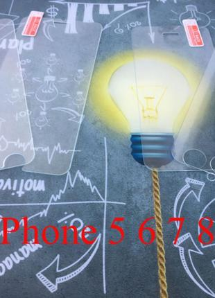 АКЦИЯ Защитное стекло для iPhone 5, 6, 7, 8, SE