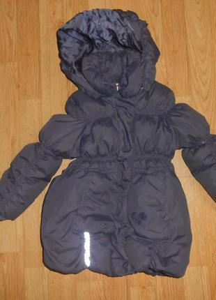 Пальто -пуховик на девочку 1,5-2 года