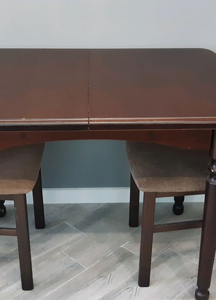Стол обеденный кухонный раскладной + 4 стула