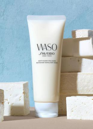 🌺shiseido waso soft and crushy polisher 30ml эксфолиант для лица