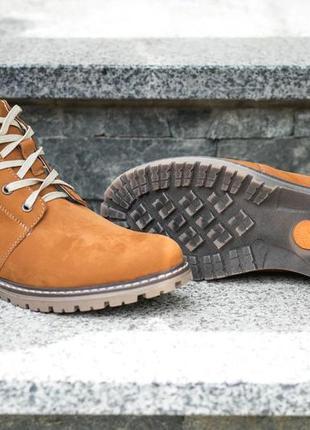 Мужские зимние ботинки affinity нубук рыжие