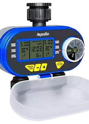 Таймер полива, подачи воды на 2 линии цифр. упр Aqualin YL21060