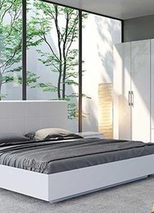 Белая модульная спальня Фемили посекционная