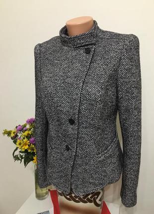 Пиджак пальто ann taylor шерсть 8