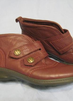 Женские теплые кожаные полуботинки hotter, р,40 -26см