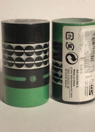 Декоративный скотч ikea overfloud ( зеленый, черный, разноцвет...