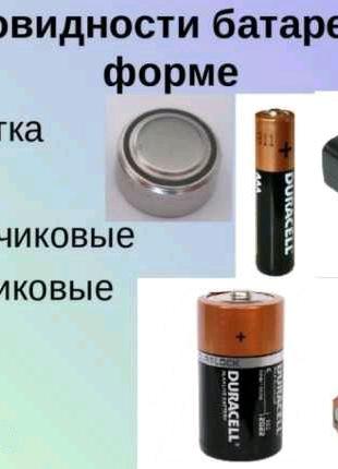 Ассортимент батареек