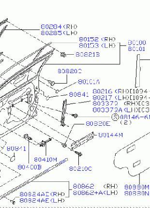 Дверь передняя правая Ниссан Максима А32