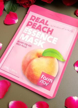 Тканевая маска с персиком