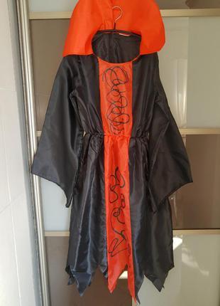 Карнавальный костюм платье на хэллоуин на 8-10 лет