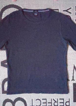 Мужской котоновый пуловер зауженного кроя Hugo Boss