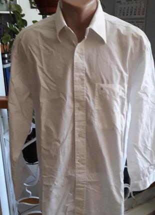 Рубашка мужская белая leonardo