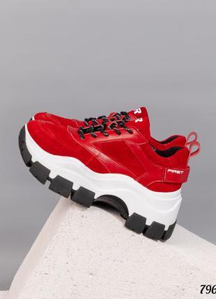 ❤ женские красные замшевые кроссовки  ❤