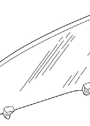 Стекло передней двери левое Тойота Рав4