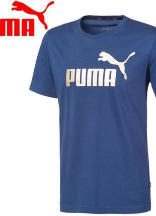 Puma ess+ metallic logo мужская футболка р.s