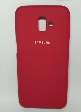 Задня накладка Samsung J610 Silicone Cover Bordo