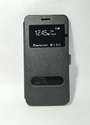 Чохол-откр Samsung Galaxy J7/J700 Imperium 2 вікна чорний