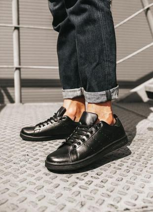 Мужские кроссовки 🔸adidas stan smith black🔸