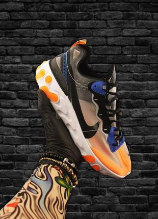 Стильные мужские кроссовки  nike react element 87 gray orange ...