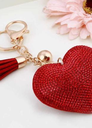 Брелок на сумку Сердце /ключи/подвеска/подарок/ТОЛЬКО ОПТ