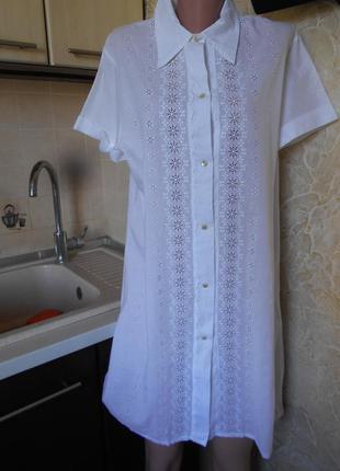 #акция 1+1=3 #elabach#белоснежное батистовое платье-рубашка с ...