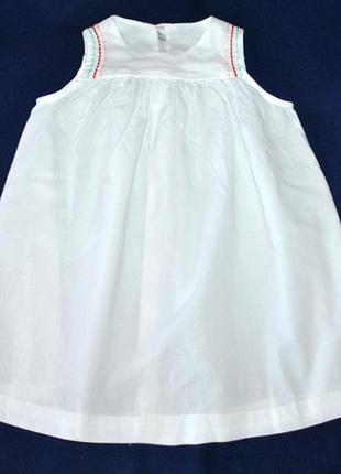 Батистовое платье с вышивкой р.80