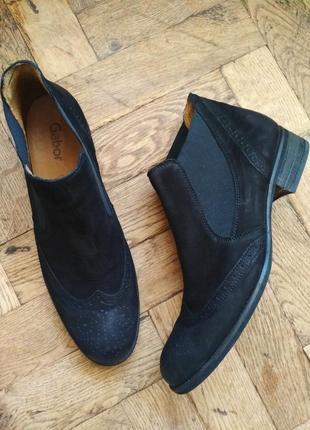 Челси кожаные gabor демисезонные ботинки черевички сапожки сапоги