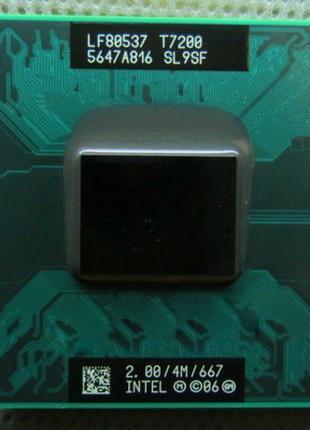 Процессор для ноутбука 2ядра Intel Core2Duo T7200 2GHz Socket M