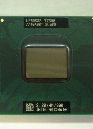 Процессор для ноутбука 2ядра Intel Core2Duo T7500 2.2GHz Socket P
