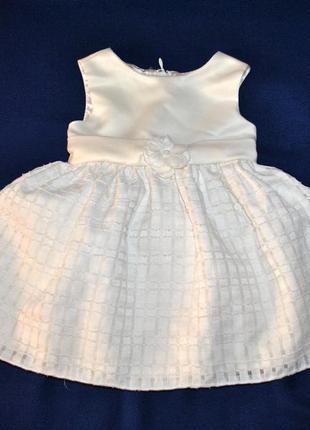 Пышное нарядное платье на годик р.80
