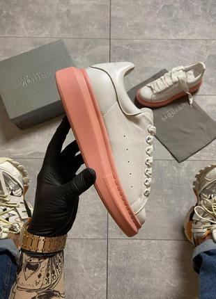 Шикарные женские кроссовки  🔥 alexander mcqueen white pin
