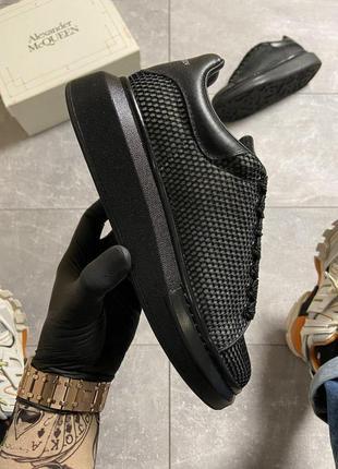 Шикарные женские кроссовки  🔥 alexander mcqueen black grid