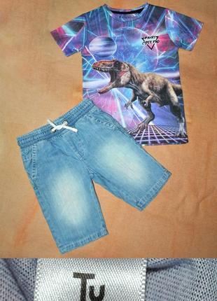 Костюм футболка+шорты р.116