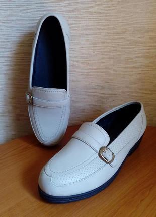 Кожаные демисезонные закрытые туфли на стельку 27 см