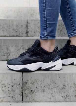 Nike m2k tekno black/white🔺 женские кроссовки найк м2к текно