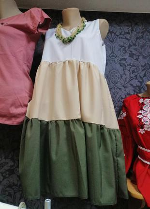 Модное и красивое платье-трапеция