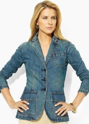 Tommy hilfiger стильный брендовый джинсовый пиджак, куртка