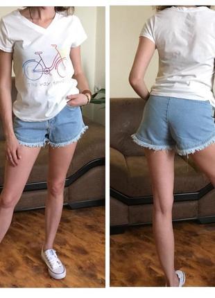 Джинсовые шорты с завышенной талией размера  s,m, l