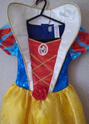 Белоснежка 1-2 года длина 71 см Платье