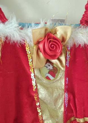 Дисней Disney Платье Белль на 5-6 лет рост 116