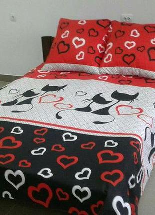 Комплект постельного белья коты