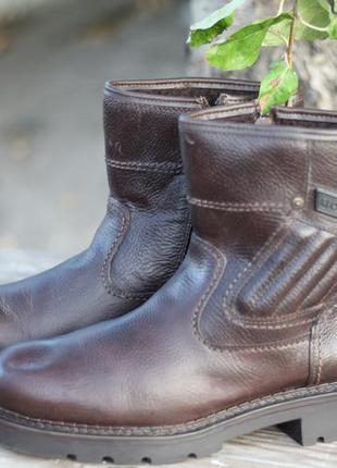 Зимние кожаные ботинки на меху klondike