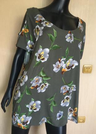 Натуральная блузка  с открытыми плечами