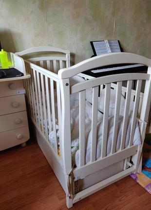 Детская кроватка Верес маятник ящик