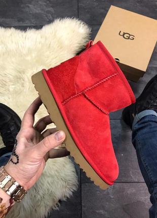 Ugg classic mini red ✰ женские замшевые угги/сапоги/ботинки ✰ ...