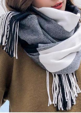 Стильний теплий шарф 752н